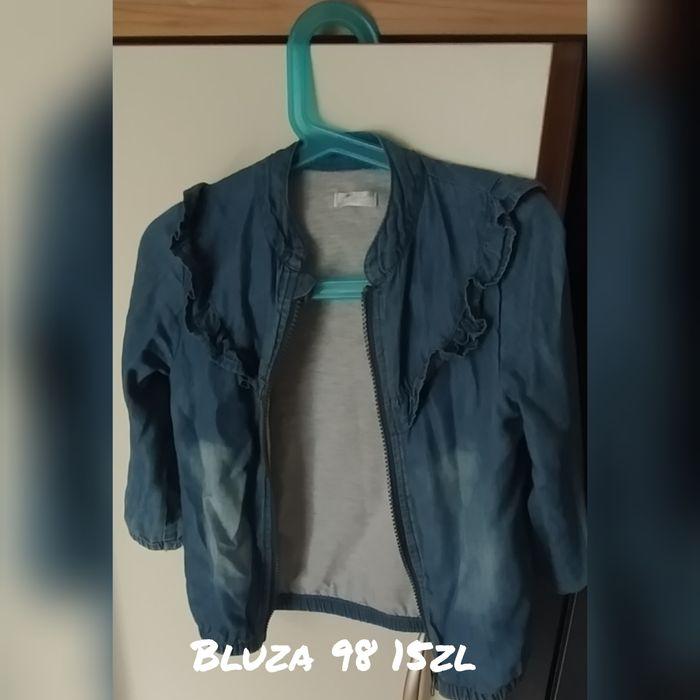 Bluza bez kaptura dziewczęca 98 a'la jeans falbanka Siedliska - image 1