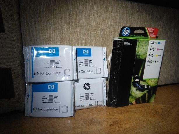 HP 940XL zestaw 4 oryginalnych wkładów,tuszy atramentowych do drukarek