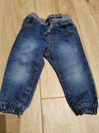 Spodnie jeansowe, joggery F&f rozmiar 80