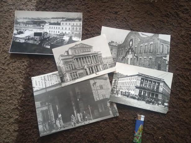5 odbitek starych zdjęć Warszawy