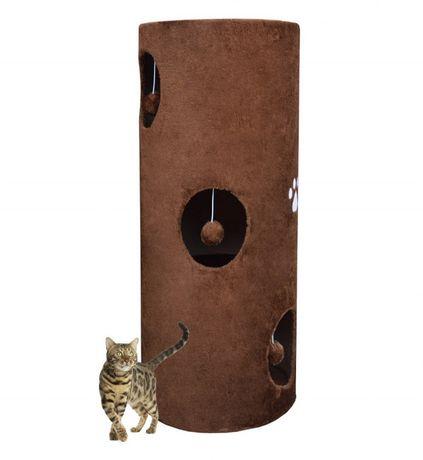 Drapak/Tuba/ Wieża dla Kota 100cm Brązowy PLUSZ 17030