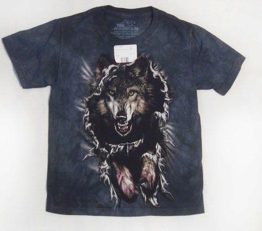 Волк р. S 4-6 лет 3D футболка The Mountain Оригинал