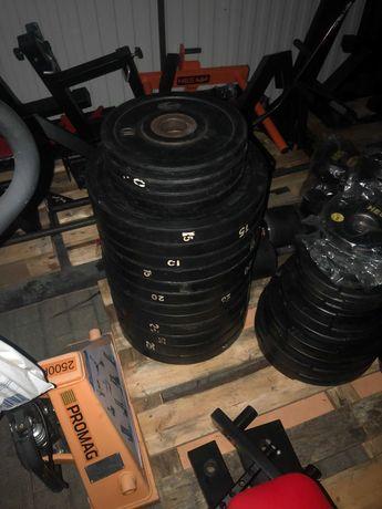 Obciążenie Olimpijskie WOSTOK 56mm zestaw 280kg 140kg stan bdb