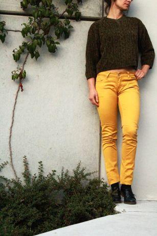 Żółte/musztardowe/miodowe spodnie/biodrówki *HIT*
