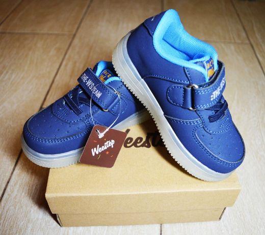 Новые синие ботинки, кроссовки для мальчика Weestep 25-26 размер