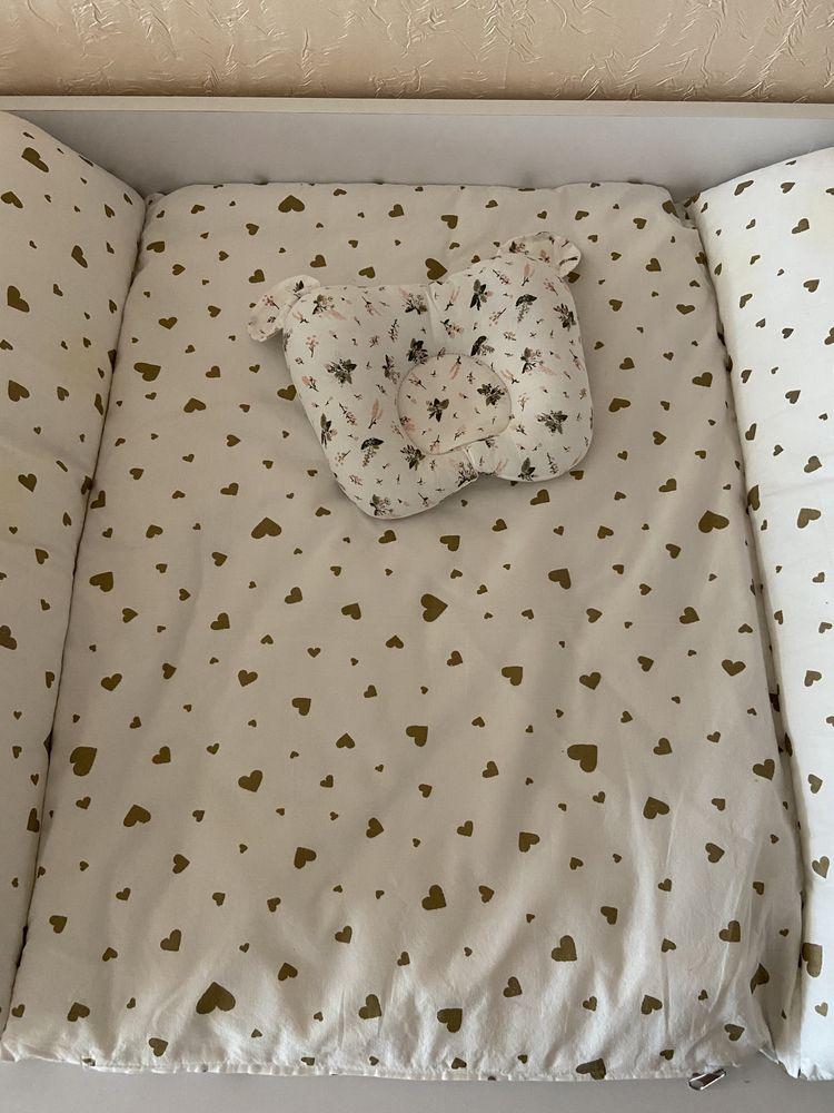 Пеленальный матрасик и подушка