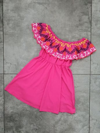 ASOS różowa sukienka hiszpanka 36