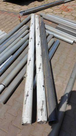 rury spustowe firmy prefa aluminium fi 120 antracyt 8,8 mb.