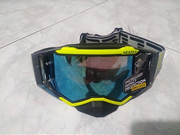 Óculos fox, scoot e 100% motocross Enduro