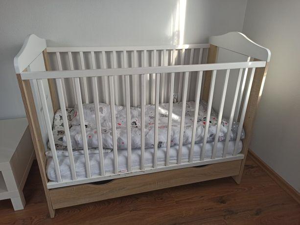 Łóżeczko dziecięce 120x90, szuflada!