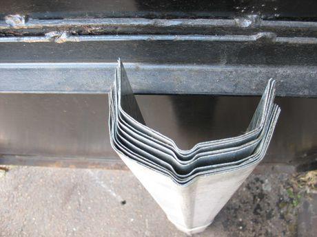 Желоб (отлив) новый, толщина-0,8 мм, водосточный оцинкованный, 10 шт.