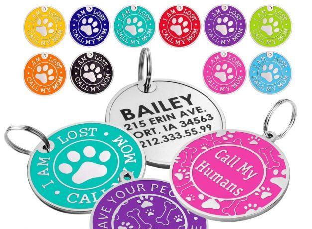 Эмалированный адресник, медальон, жетон для собак, лазерная гравировка