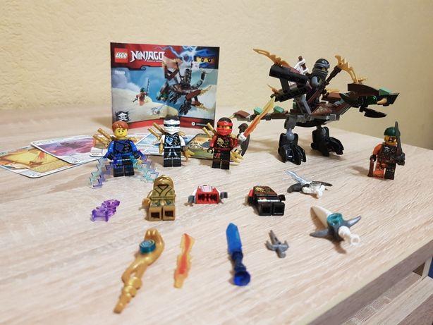 LEGO NINJAGO 70599/ЛЕГО Ниндзяго Дракон Коула + фигурки, карты, оружие