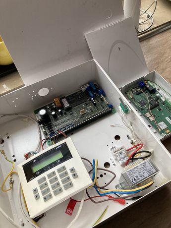 Alarm Satel ca-10 + modul gsm-x