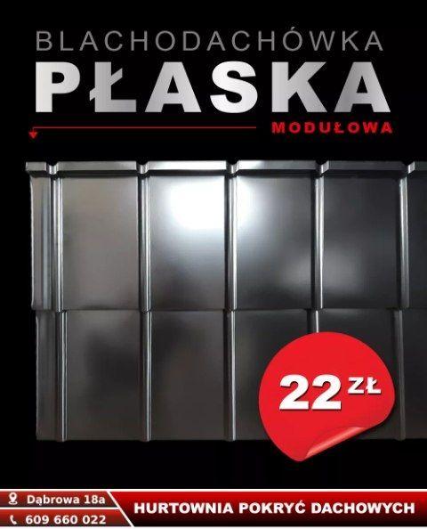 blachodachówka płaska czarny połysk PROMOCJA Sulmierzyce - image 1