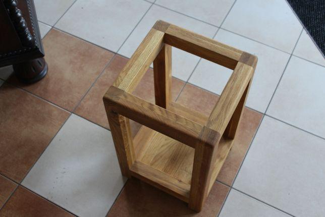 Kwietnik stojak drewniany dąb