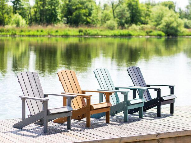 Cadeira de jardim castanho claro ADIRONDACK - Beliani