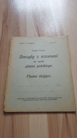 Zeszyty z wzorami do nauki pisma polskiego pismo stojące i ukośne S.Ta