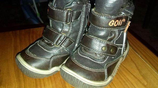 Зимні шкіряні чобітки 20р