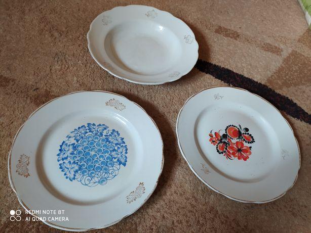 Большая тарелка фарфор СССР
