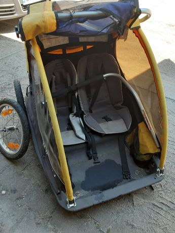 Przyczepka rowerowa dla dzieci 2 osobowa