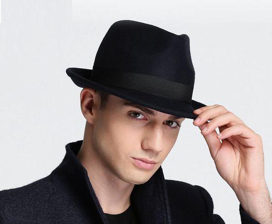 Шляпа трилби черные. коричневые, серые