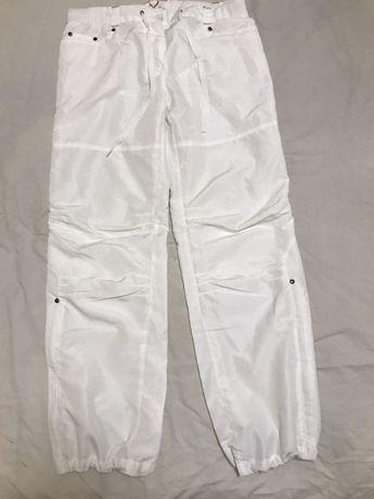 Белые фирменные женские спортивные штаны, размер М-L