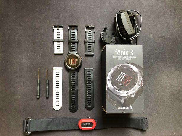 Zegarek Garmin Fenix 3 + akcesoria