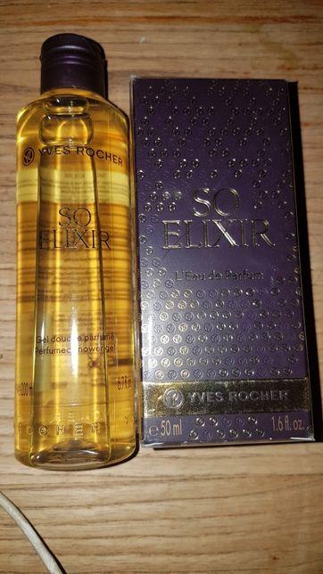 Sp Elixir Yves Rocher perfumy i żel Nowe