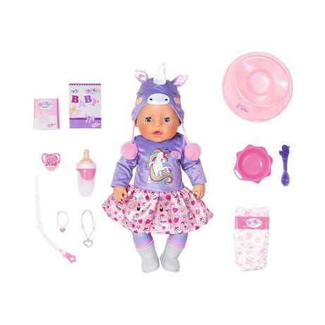 БЕСПЛ.ДОСТ Кукла Zapf Baby Born Нежные обьятия Милый Единорог 828847