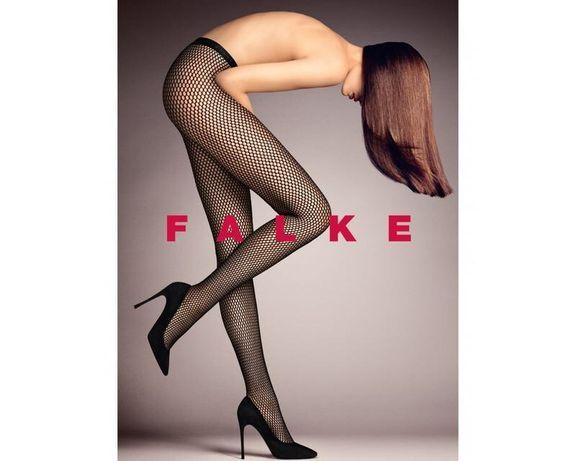 Falke! оригинал, колготы, колготки сетка колготы сеточка с серебристым