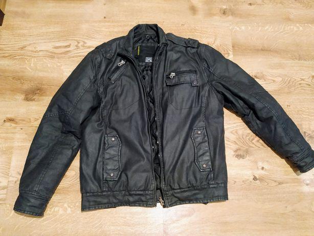 Czarna zimowa kurtka męska L