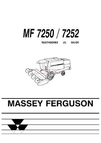 Katalog części kombajn Massey Ferguson 7250,7252