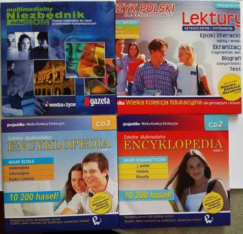 Pomoce dla ucznia: nauki humanistyczne, nauki ścisłe, niezbędnik 4xCD