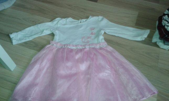 Sukienki na 86 cm Komplet 9 zł