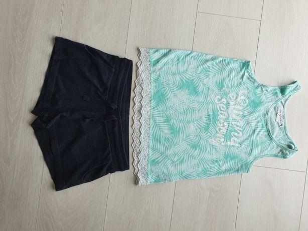 Krótkie spodenki szorty bawełniane HM+ koszulka HM 152