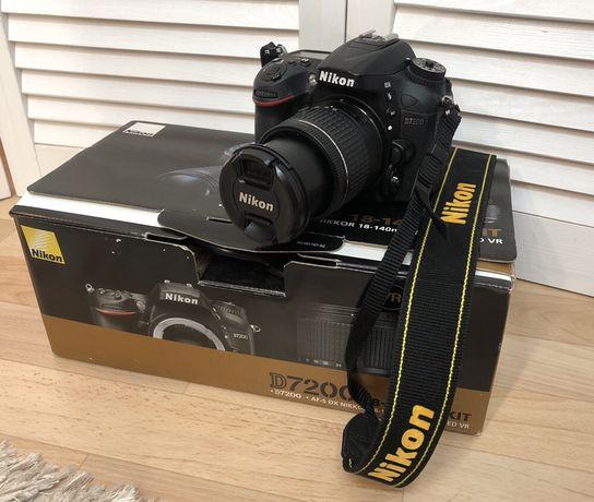 Фотоаппарат Nicon D7200 + объектив 18-140 VR Kit