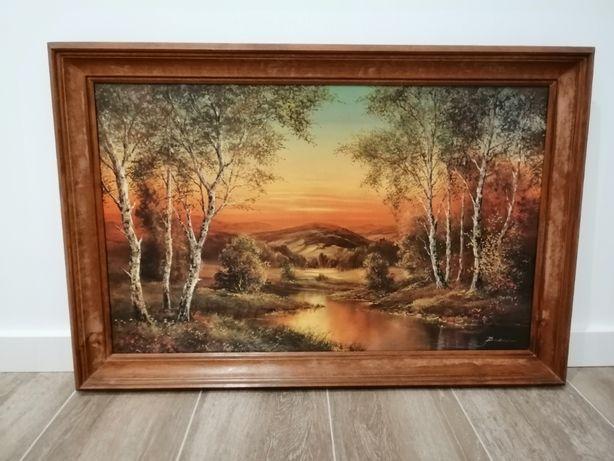 obraz reprodukcja Buchner krajobraz las drewniana rama