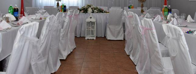 Białe pokrowce na krzesła -Sprzedaż