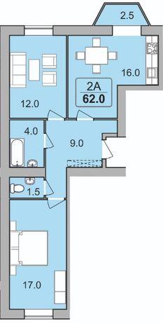Продам квартиру 62 м2! В центрі!!!