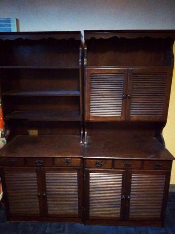 Zestaw 2 szafek Bonanza drewnianych