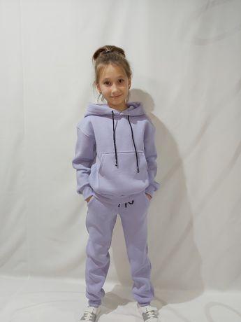 Тёплый спортивный костюм на флисе для девочки рост (128-158)