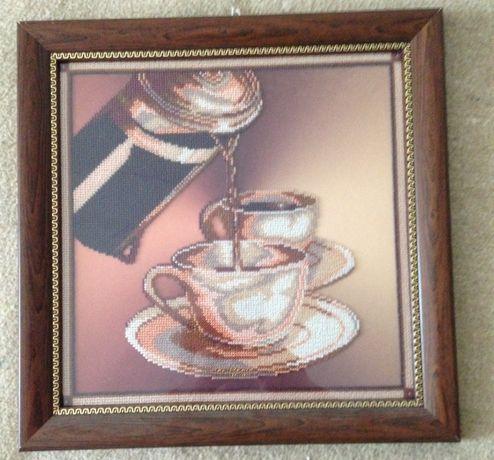 картинки и иконы вышитые бисером продам