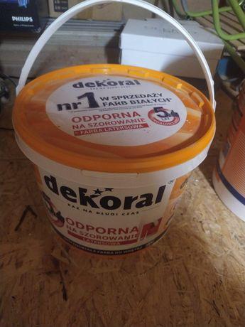 Farba Dekoral biała lateksowa 30 litrow
