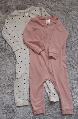 Piżama z suwakiem H&M 2pack 86