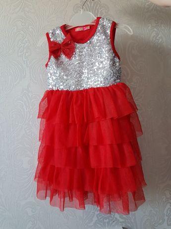 Нарядное детское платье с паетками 2-4 года классное фатин ту-ту пышно