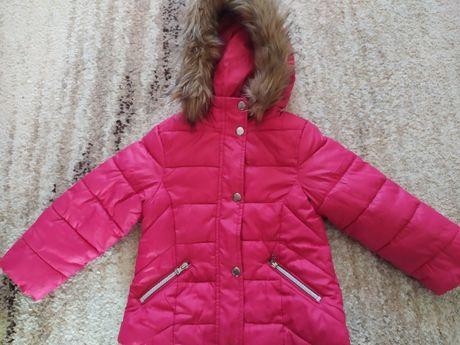 Zara Kurtka jesienno-zimowa różowa rozmiar 104