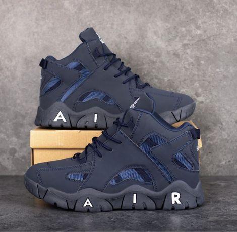 Распродажа Мужские Зимние Кроссовки на Меху под Nike Air Max black