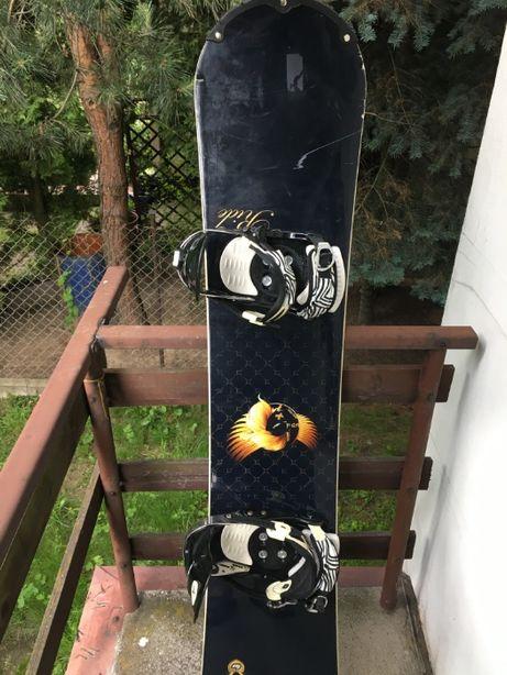 Deska snowboardowa + zapięcia mega okazja