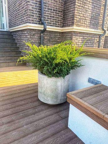 вазон бетонный под индивидуальный заказ
